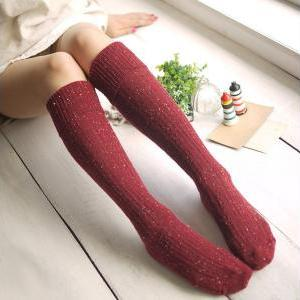 *free ship* dot knee high socks