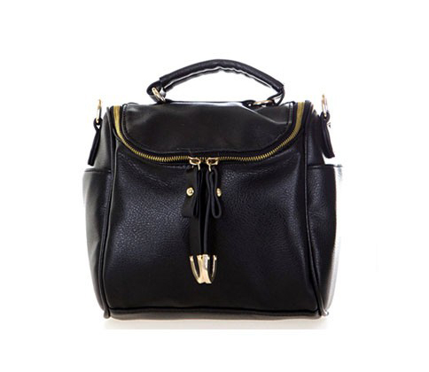 *free ship* Black PU Shoulder Bag