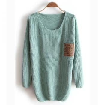 *free ship* Green pullover sweater